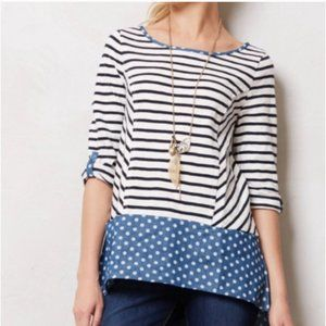 Anthropologie Postmark Fairley Striped Tunic Top